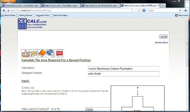 Foundation Design Problem 1